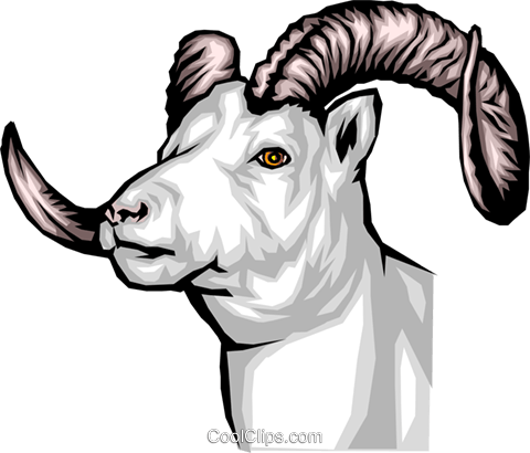 Mountain Goat Royalty Free Vector Clip Art illustration anim0089