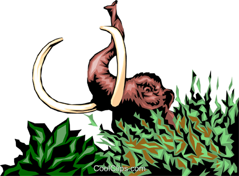 Mammoth Royalty Free Vector Clip Art illustration anim0104