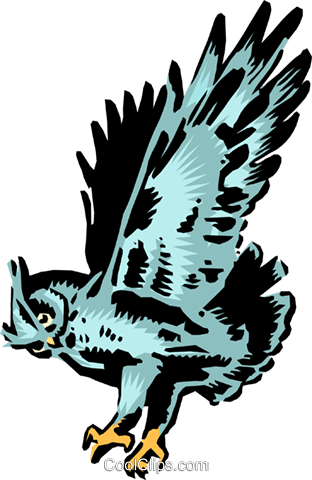 Owl Royalty Free Vector Clip Art illustration anim0110