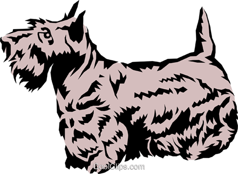 Scottish terrier Royalty Free Vector Clip Art illustration anim0120