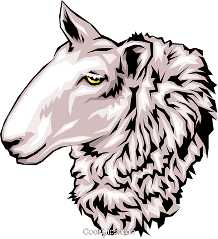 Sheep Royalty Free Vector Clip Art illustration anim0122