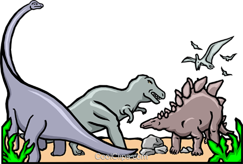 Dinosaurs for kids Royalty Free Vector Clip Art illustration anim0530