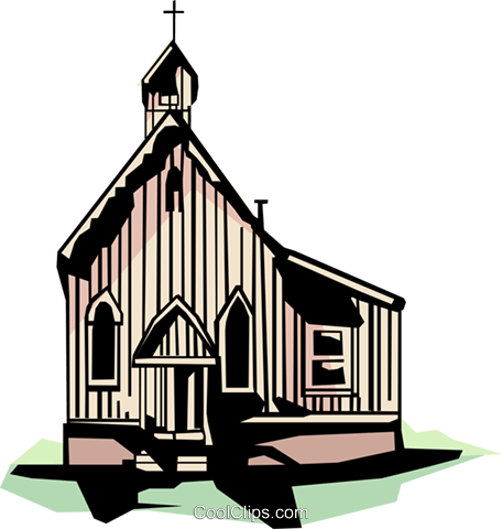 Country church Royalty Free Vector Clip Art illustration arch0049