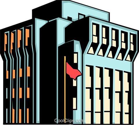 Office building Royalty Free Vector Clip Art illustration arch0056