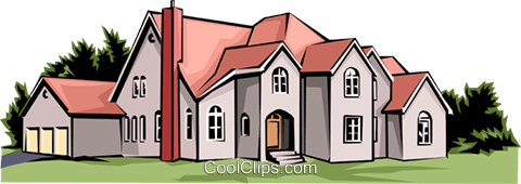 Home Royalty Free Vector Clip Art illustration arch0060