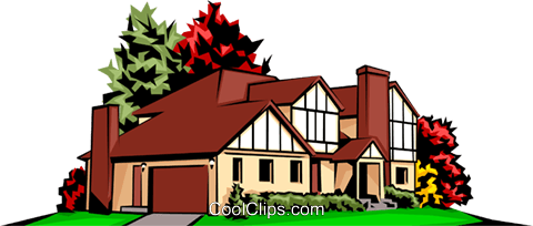 Home Royalty Free Vector Clip Art illustration arch0063