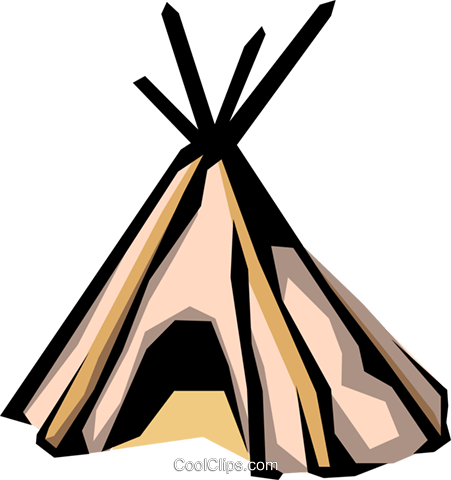 Teepee Royalty Free Vector Clip Art illustration arch0300