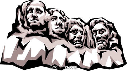 Mount Rushmore Royalty Free Vector Clip Art illustration arch0301