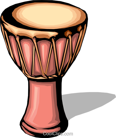 African drum Royalty Free Vector Clip Art illustration arts0002