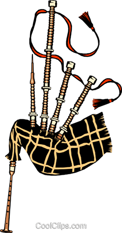 Bagpipes Royalty Free Vector Clip Art illustration arts0004