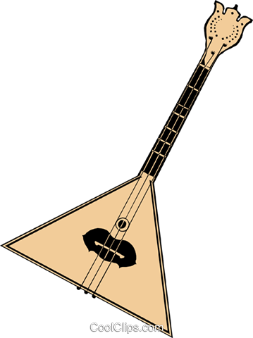 Balalaika Royalty Free Vector Clip Art illustration arts0005