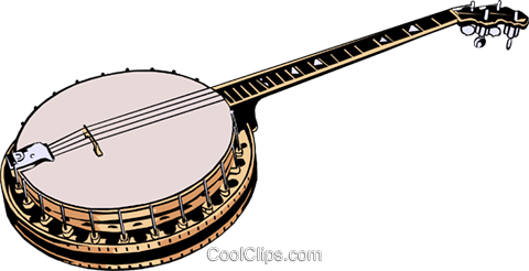 Banjo Royalty Free Vector Clip Art illustration arts0006