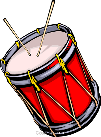 Drum with drum sticks Royalty Free Vector Clip Art illustration arts0007