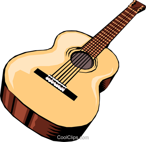 Acoustic guitar Royalty Free Vector Clip Art illustration arts0010