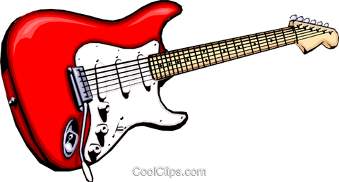 Electric guitar Royalty Free Vector Clip Art illustration arts0013