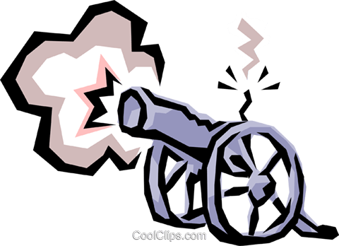 Cannons Royalty Free Vector Clip Art illustration busi0644