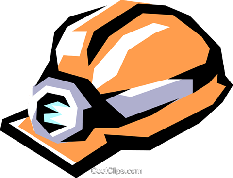 Miner's hat Royalty Free Vector Clip Art illustration envi0141