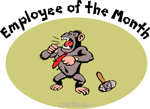 Employee of the month Royalty Free Vector Clip Art illustration even0406