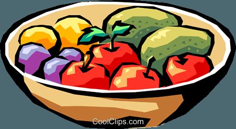 Obstschale vektor clipart bild food0540 for Clipart frutta