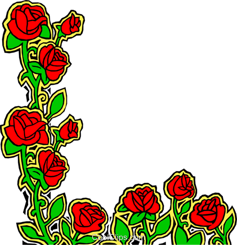 Rose design Royalty Free Vector Clip Art illustration natu0183