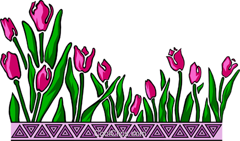 Tulip design Royalty Free Vector Clip Art illustration natu0184
