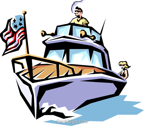 pleasure boat royalty free vector clip art illustration tran0256 rh search coolclips com boating clipart images boating clipart black and white