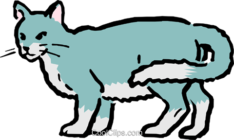 Cartoon cat Royalty Free Vector Clip Art illustration anim0534
