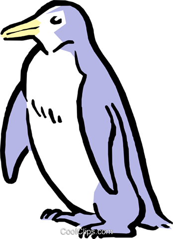 Cartoon penguin Royalty Free Vector Clip Art illustration anim0536