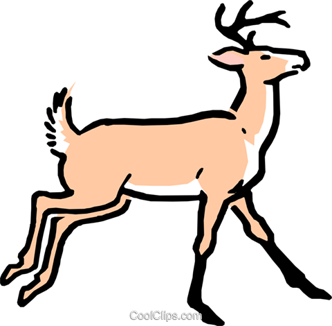 Cartoon deer Royalty Free Vector Clip Art illustration anim0537