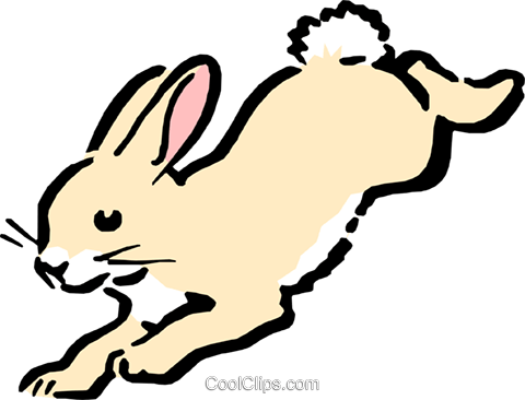 Cartoon rabbit Royalty Free Vector Clip Art illustration anim0542