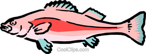 Cartoon fish Royalty Free Vector Clip Art illustration anim0545