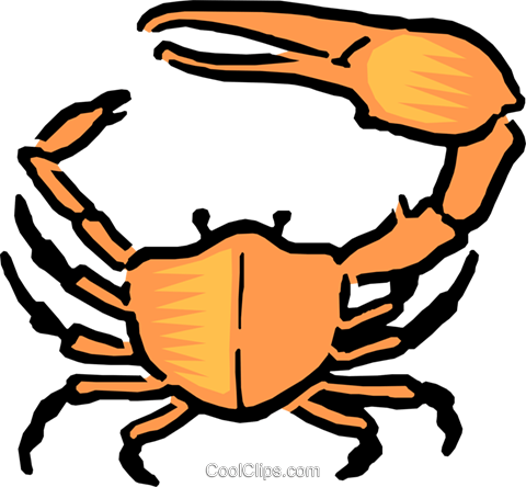 Cartoon crab Royalty Free Vector Clip Art illustration anim0547