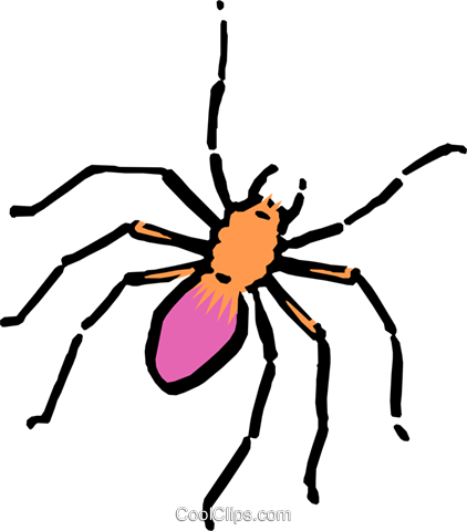 Cartoon spider Royalty Free Vector Clip Art illustration anim0549