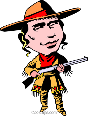 Calamity Jane Royalty Free Vector Clip Art illustration cart0063