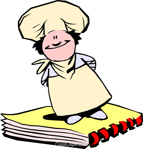 Cartoon chef Royalty Free Vector Clip Art illustration cart0080