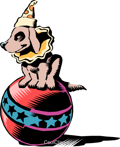Circus dog Royalty Free Vector Clip Art illustration cart0083