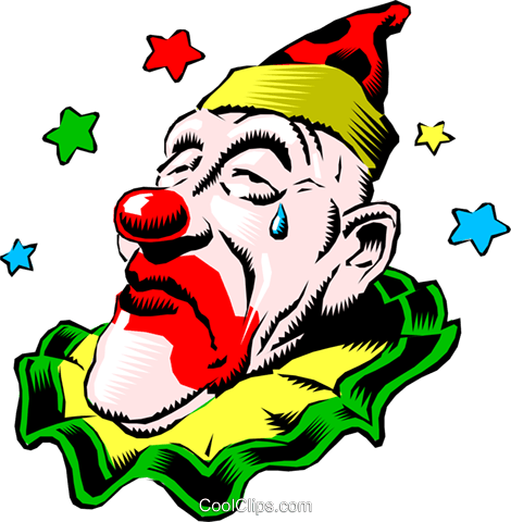 Circus clowns Royalty Free Vector Clip Art illustration cart0084