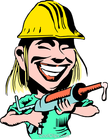 Cartoon construction worker Royalty Free Vector Clip Art illustration cart0167