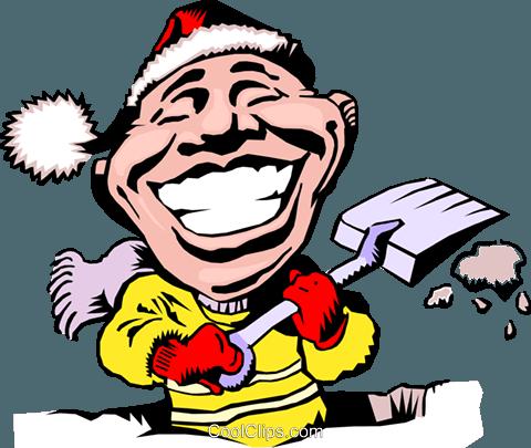 cartoon snow shovel royalty free vector clip art illustration rh search coolclips com snow clip art background snowy clip art