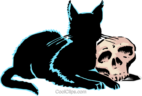 Black cat Royalty Free Vector Clip Art illustration even0102