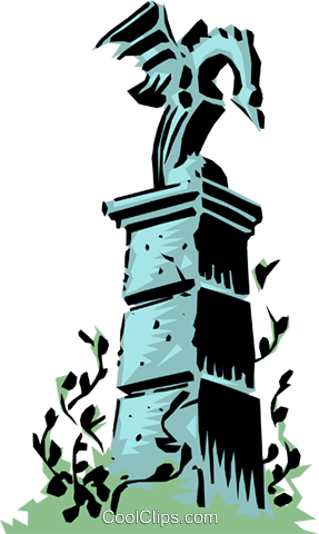 Cartoon gatepost Royalty Free Vector Clip Art illustration even0106