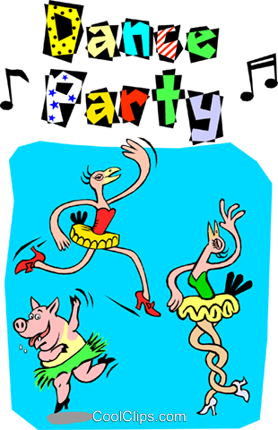 Dance Party Vecteurs de stock et clip-Art vectoriel even0418