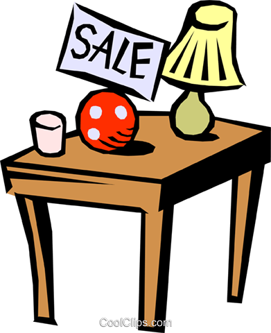 Garage sale Royalty Free Vector Clip Art illustration hous0695