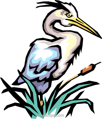 Cranes Royalty Free Vector Clip Art illustration anim0417