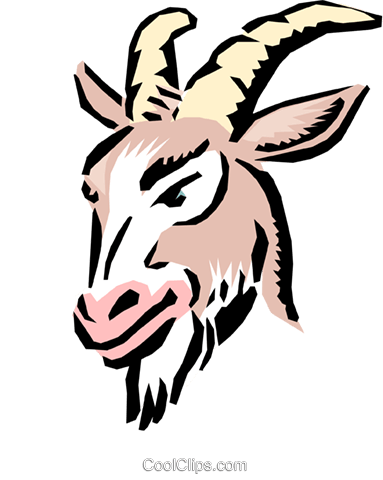 Cartoon goat Royalty Free Vector Clip Art illustration anim0552