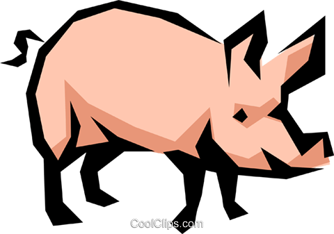Pig Royalty Free Vector Clip Art illustration anim0858