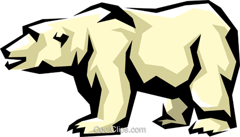 Polar bear Royalty Free Vector Clip Art illustration anim0859