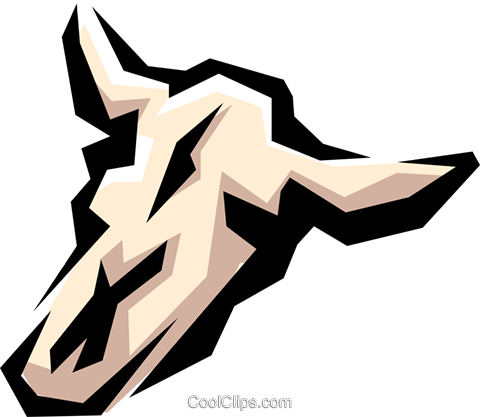 Cow skull Royalty Free Vector Clip Art illustration anim0861