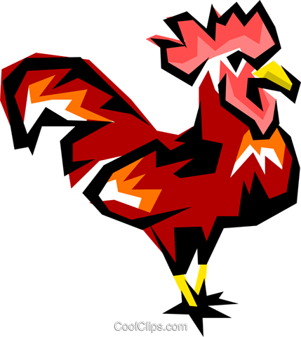 Rooster Royalty Free Vector Clip Art illustration anim0862
