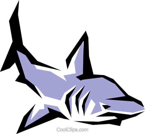 Shark Royalty Free Vector Clip Art illustration anim0864